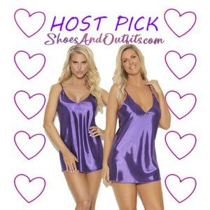 💋🎉🎉HP🎉🎉 Purple Satin Classic Chemise